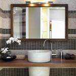 dettaglio sul lavabo in un bagno moderno